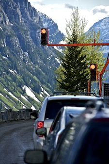 Luci di traffico temporanee