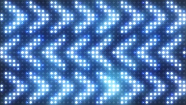 Luci lampeggianti colorate con riflettori a lampadina a fumo luci di inondazione freccia vj led a parete palcoscenico luci led lampeggianti. illustrazione 3d