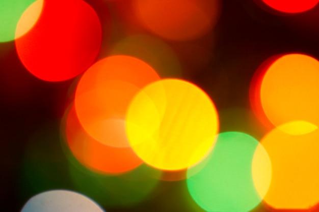 Luci scintillanti di colore bokeh sfocato