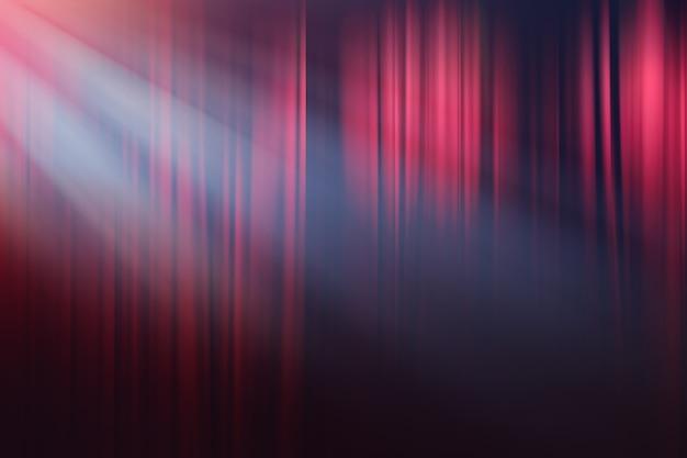 Luci sfocate sul palcoscenico, teatro drammatico spettacolo sullo sfondo