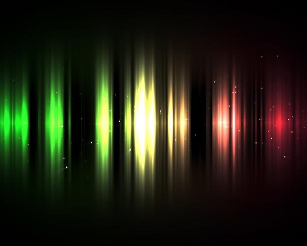 Luci verdi e rosse nell'oscurità