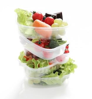 Lunch box con cibo sano