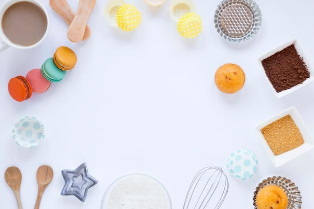 Macarons e muffin