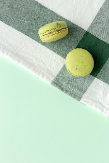 Macarons verdi fatti in casa
