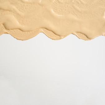 Macchia di fondazione astratta piatto disteso con spazio di copia
