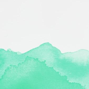 Macchia di vernice color smeraldo