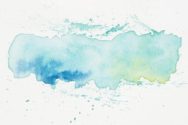 Macchia turchese traslucido del pigmento