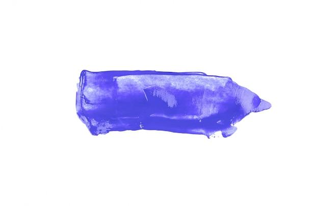 Macchia viola del punto dell'acquerello di struttura del colpo del pennello isolata