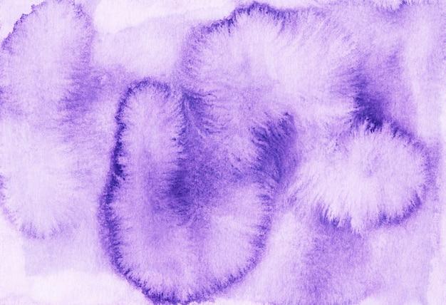 Macchie di lavanda acquerello su carta sfondo bianco. dipinto a mano