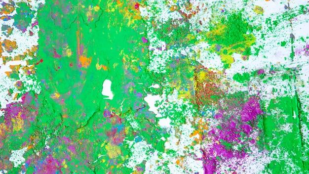 Macchie di viola e verde colori secchi
