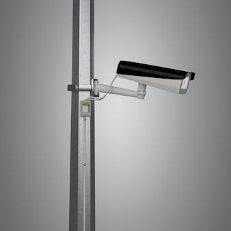 Macchina fotografica del cctv di sicurezza della via isolata - rappresentazione 3d