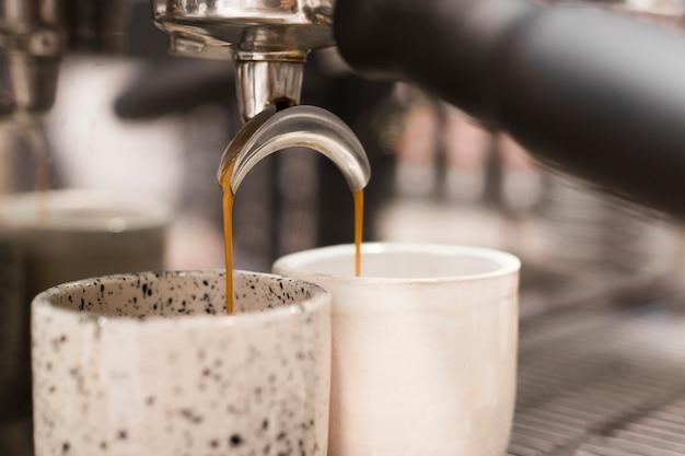 Macchina per il caffè close-up