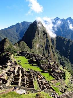 Machu picchu è la capitale dell'impero inca nelle ande, perù, sud america