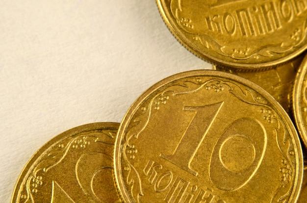 Macro delle monete ucraine