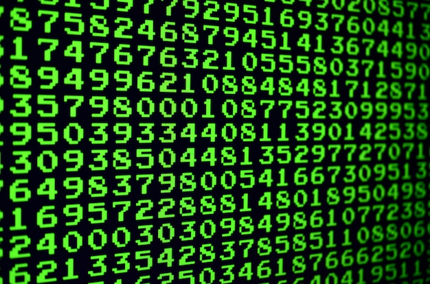 Macro di selezione della password sul monitor del computer dell'ufficio.