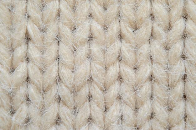 Macro di trama a maglia beige