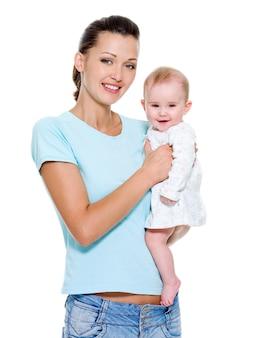 Madre con dolce bambino appena nato