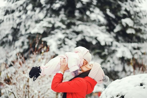 Madre con figlia piccola