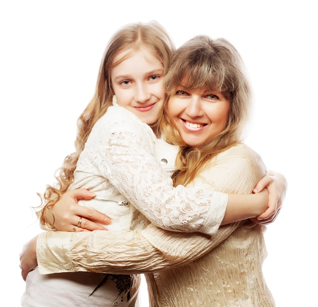 Madre e figlia, famiglia felice