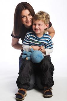 Madre insieme al figlio