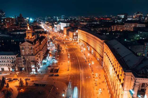 Maidan nezalezhnosti è la piazza centrale della capitale dell'ucraina
