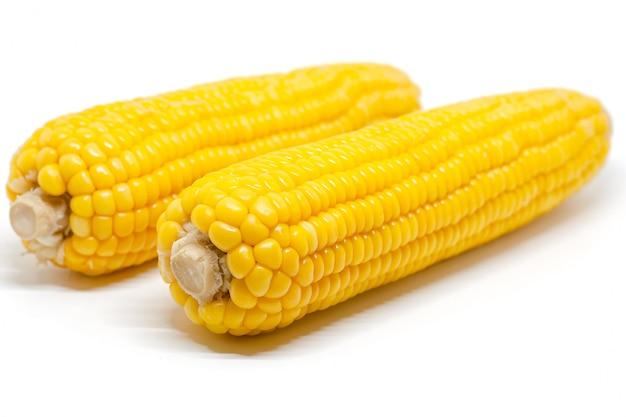 Mais su bianco per gli ingredienti alimentari e la cottura del concetto
