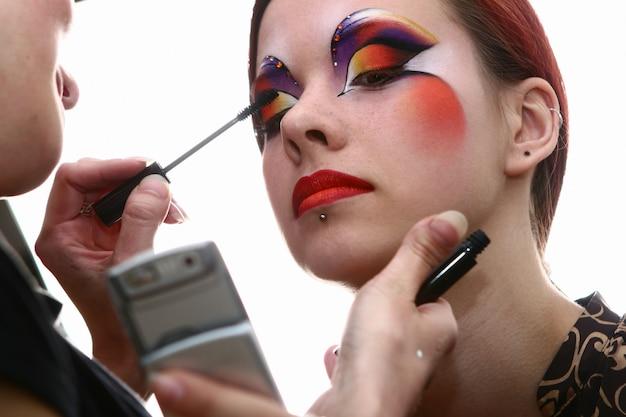 Make up bachkstage