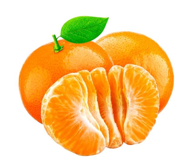 Mandarini freschi isolati