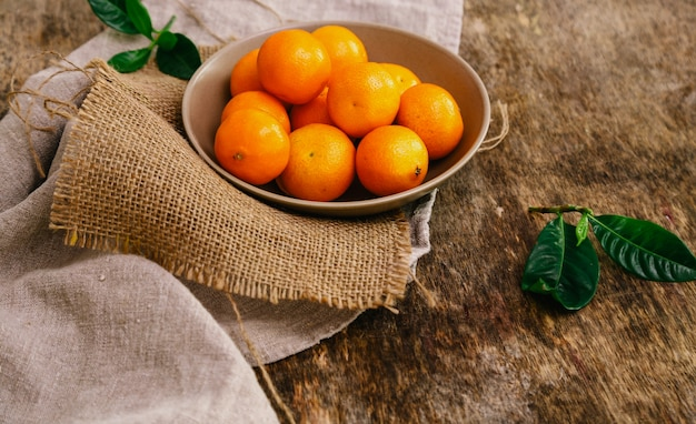 Mandarini sul tavolo