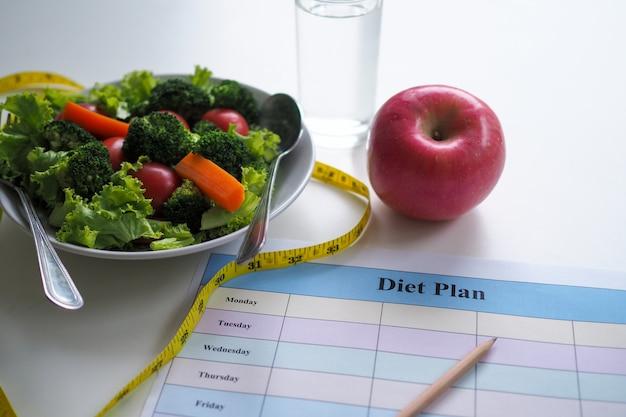 Mangiare per una buona salute e una forma perfetta.