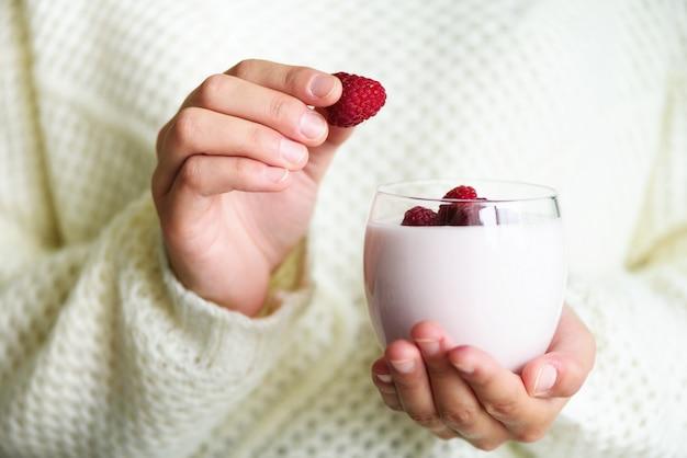 Mangiare sano e pulito colazione, merenda
