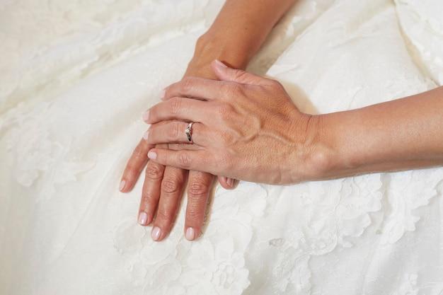 Mani di donna. vene