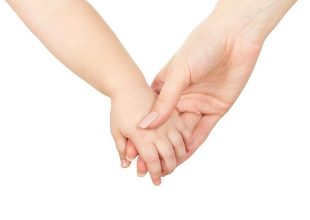 Mani di mamma e bambino