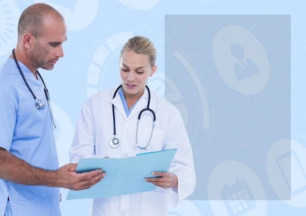 Mani ospedale linea di presentazione dello studio