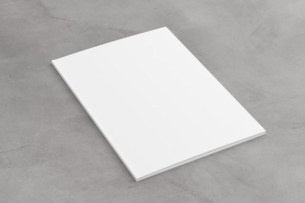 Manichino di una rivista aperta - rendering 3d