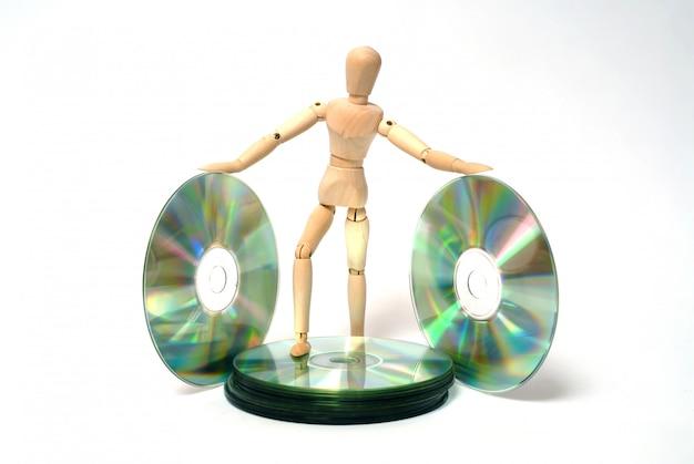 Manichino e cd-rom