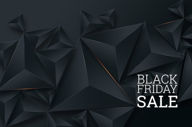 Manifesto di vendita del black friday