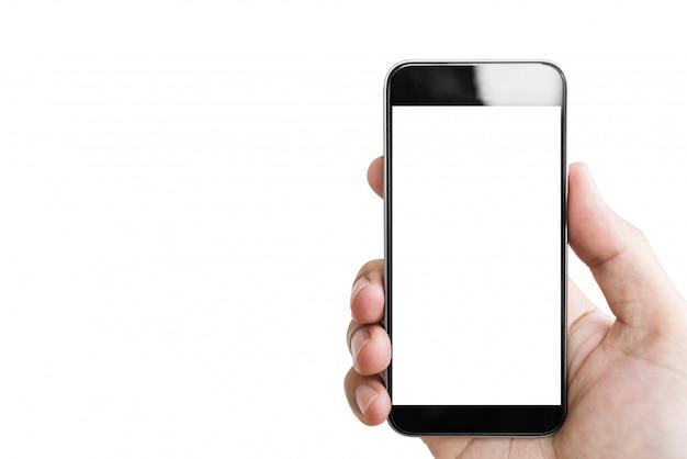 Mano che tiene il cellulare smart phone