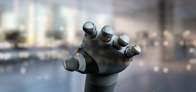 Mano del robot del cyborg - rappresentazione 3d