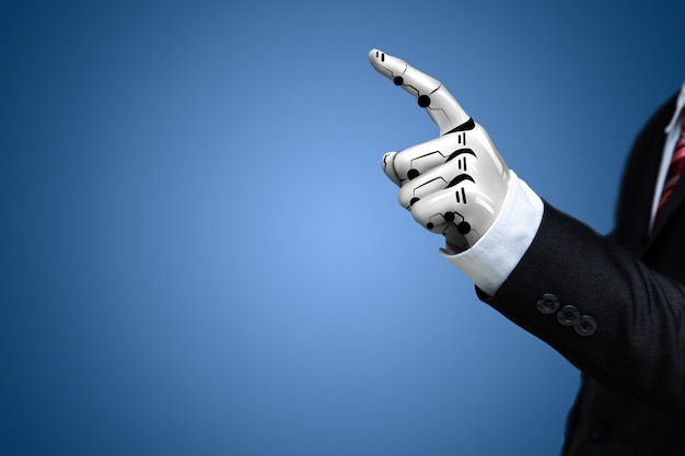 Mano robotica di intelligenza artificiale