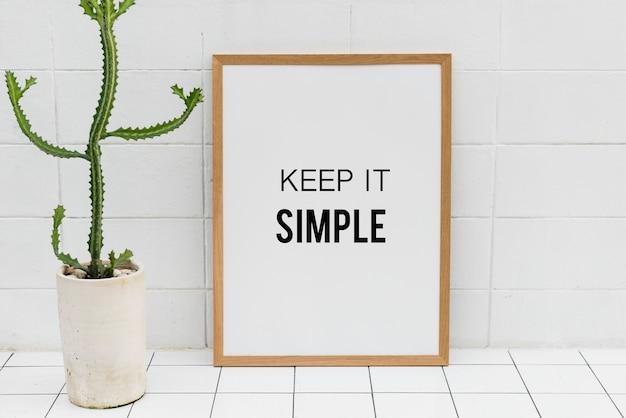 Mantienilo semplice