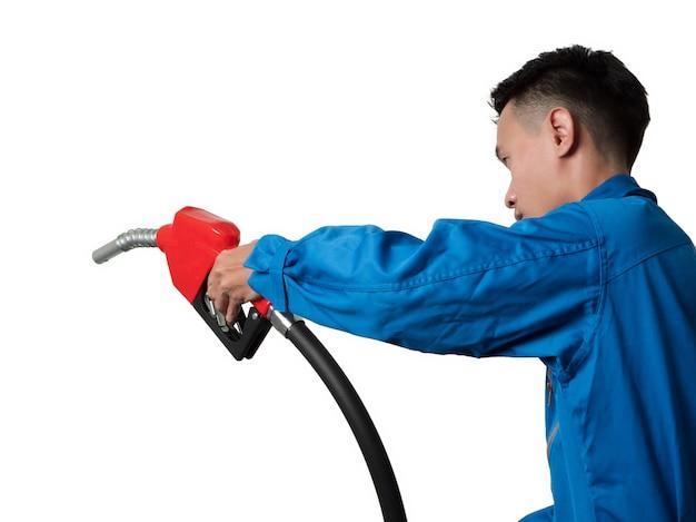 Manutentore di olio che tiene l'ugello per l'olio combustibile per il sistema di lubrificazione gasohol 91.