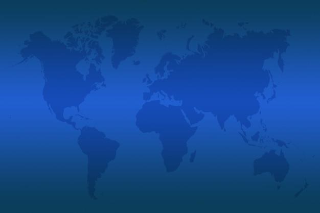 Mappa blu del mondo