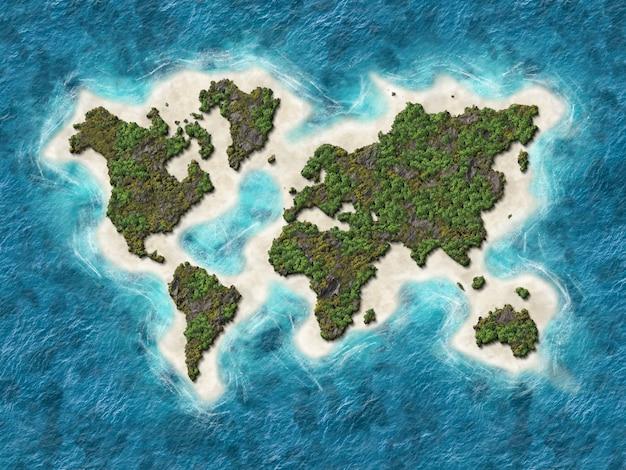 Mappa del mondo 3d