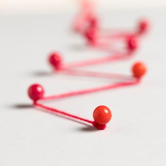 Mappa del percorso della puntina da disegno e del filo rosso
