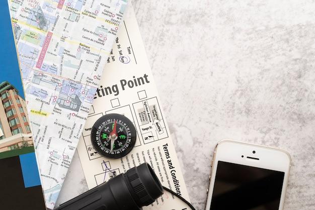 Mappa del punto di partenza per una guida turistica