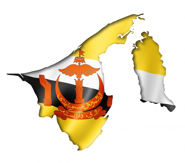 Mappa della bandiera bruneiana