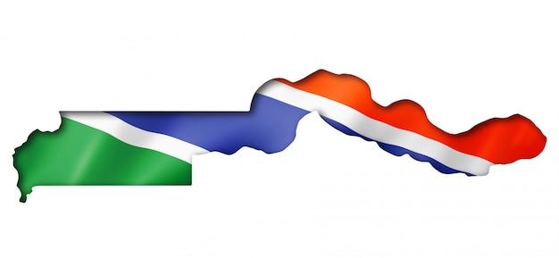 Mappa della bandiera del gambia