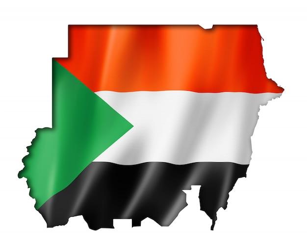 Mappa della bandiera del sudan
