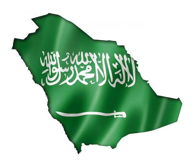 Mappa della bandiera dell'arabia saudita